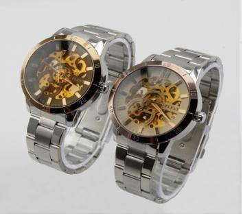 Mens Auto-Mechanical Self-Winding Hollow Engraving Watch